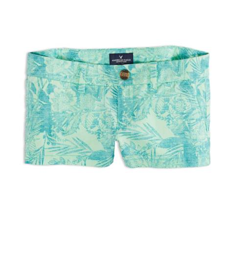 Teal AEO Factory Printed Shortie