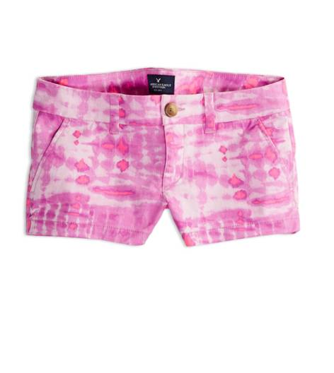 Pink AEO Factory Printed Shortie