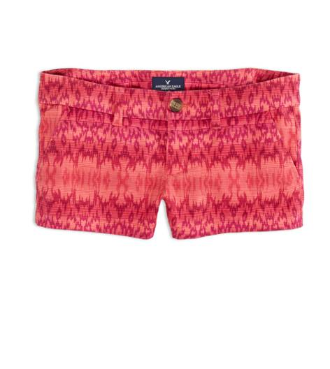 Bright Pink AEO Factory Printed Shortie