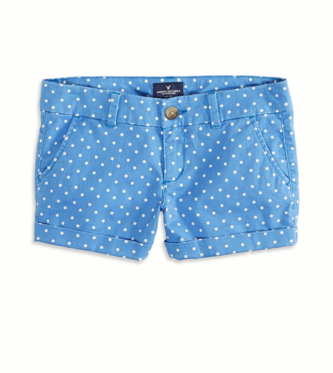 Sapphire Ice AEO Factory Patterned Midi Short