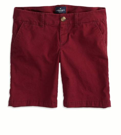 Summer Burgundy AEO Factory Bermuda Short