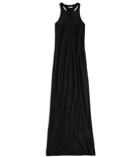 True Black AEO Factory Racerback Maxi Dress