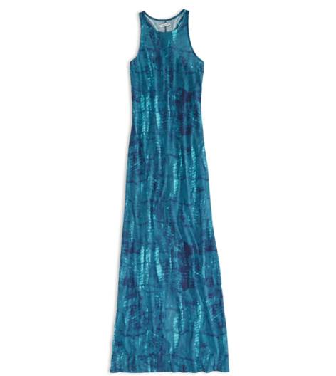 Teal AEO Factory Printed Racerback Maxi Dress