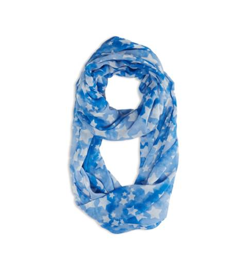Blue AEO Factory Printed Loop Scarf