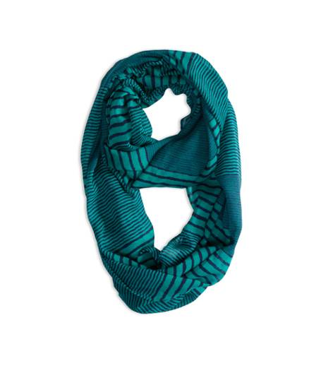 Evening Blue AEO Factory Printed Loop Scarf