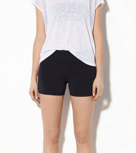 Black AEO Performance Midi Short