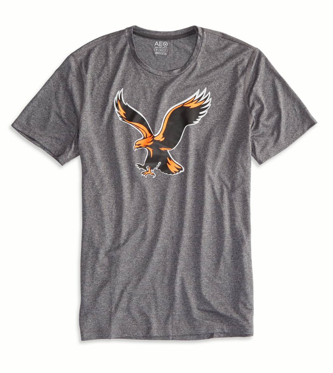 Medium Heather Grey AEO Performance Crew T-Shirt