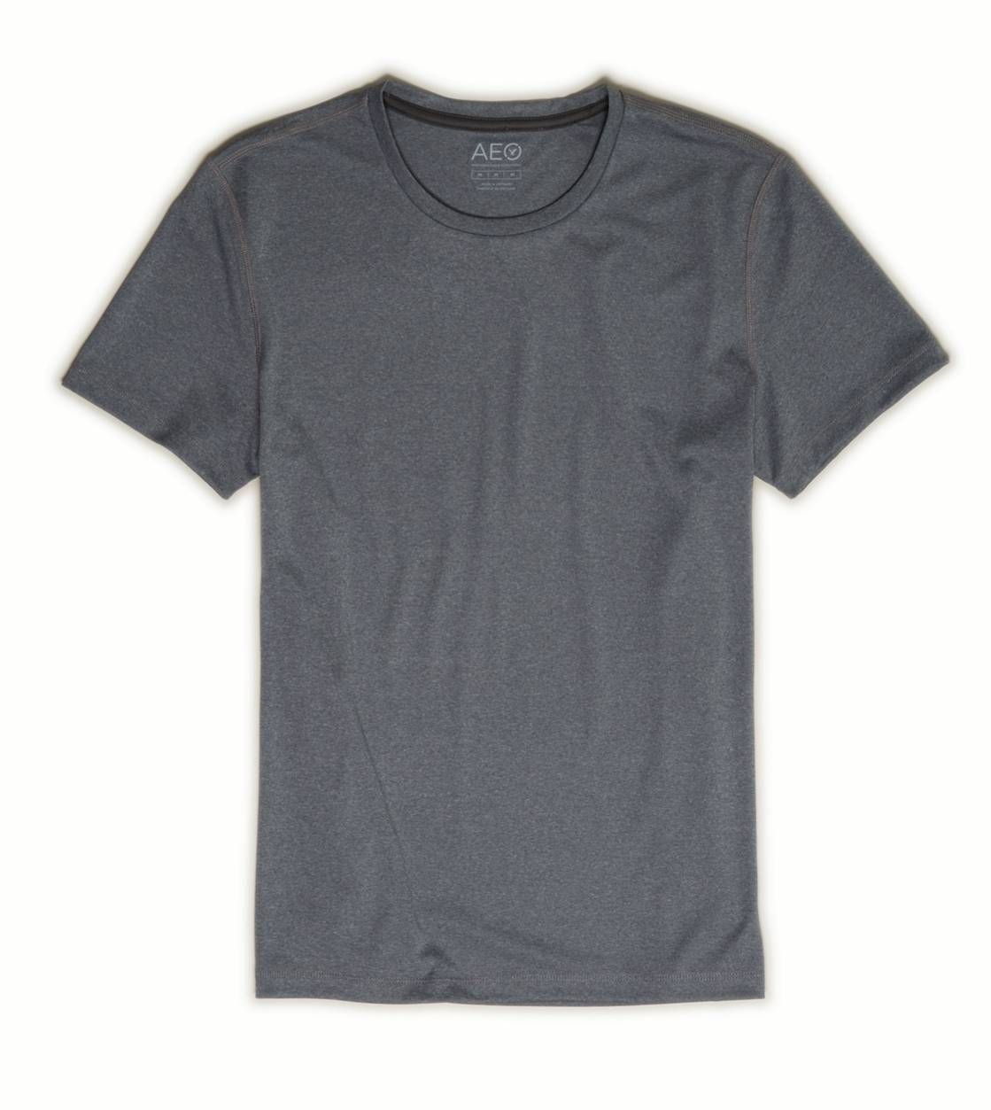 Gravel Heather AEO Performance Crew T-Shirt