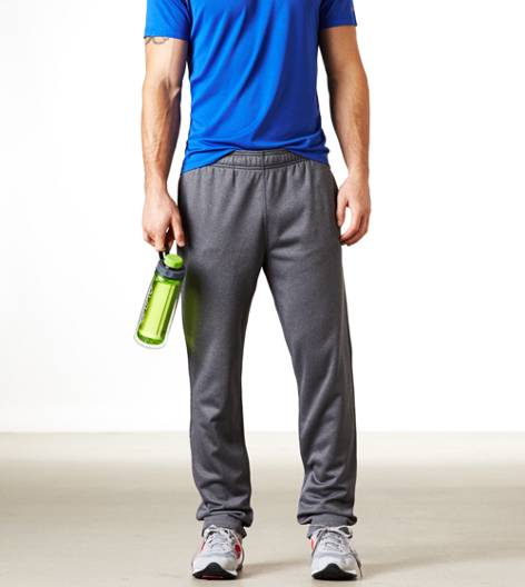 Medium Heather Grey AEO Performance Track Pant