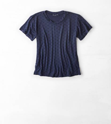 Navy Don't Ask Why Cropped T-Shirt