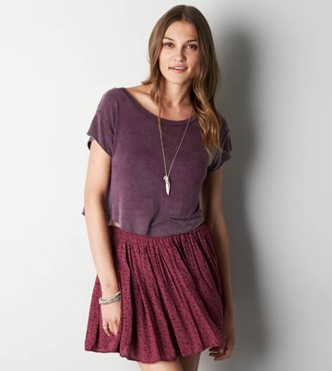 Raisin Wine Don't Ask Why Swingy Cropped Tee