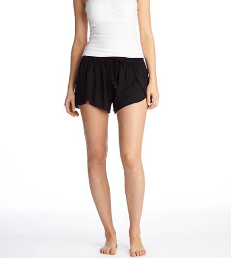 True Black Aerie Slit-Front Short
