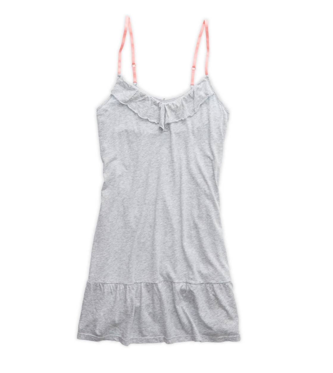 Medium Heather Grey Aerie Softest Ruffle Nightie