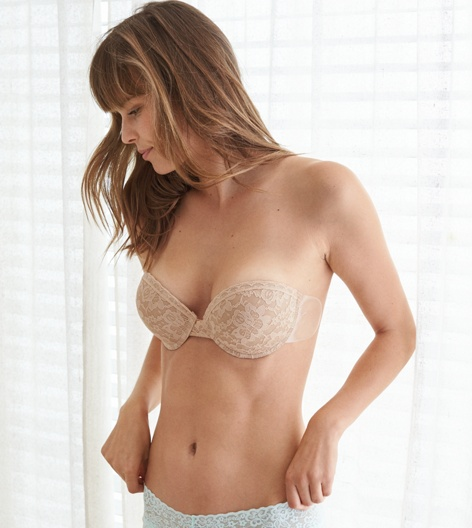 Natural Nude Aerie The Bare Bra Pushup
