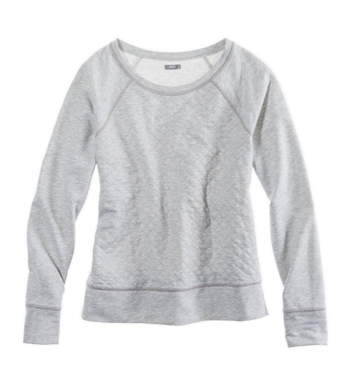 Medium Heather Grey Aerie Quilted Sparkle Sweatshirt
