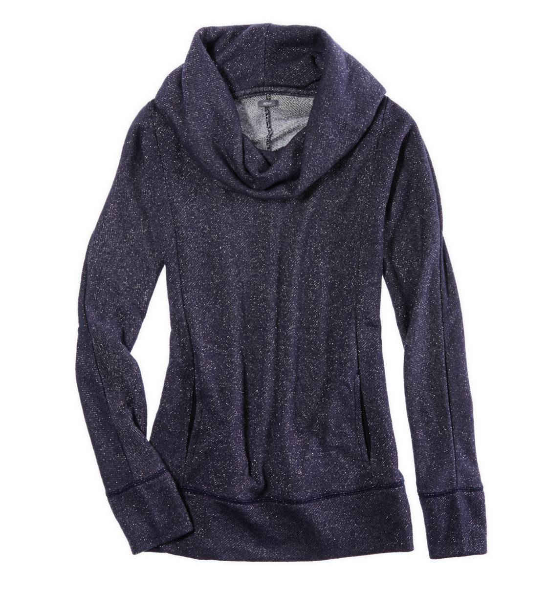 Royal Navy Aerie Sparkle Cowl Neck Sweatshirt