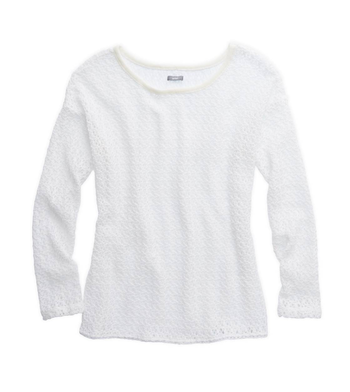 Soft Muslin Aerie Open-Knit Crochet Sweater
