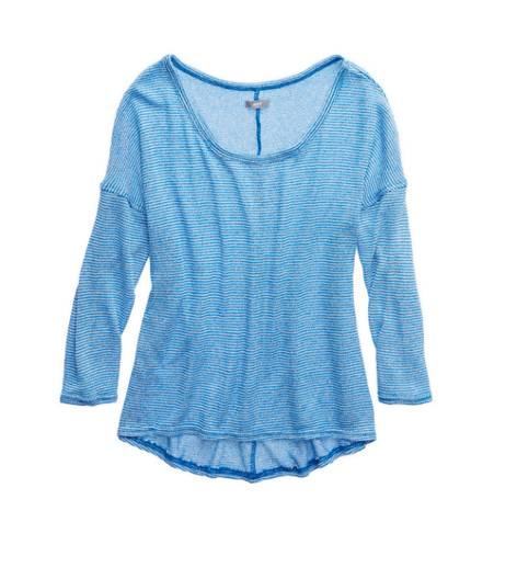 Sky High Aerie Dolman Open Knit Sweater