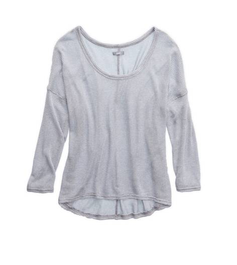 Slab Grey Aerie Dolman Open Knit Sweater