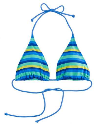 Aerie Striped String Halter Bikini Top