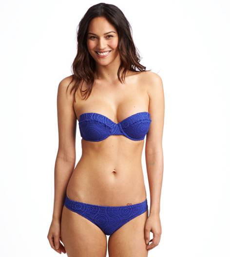 Poet Blue Holly Pushup Bikini Top