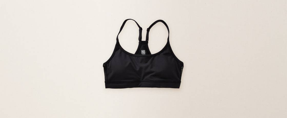 True Black Aerie FIT Racerback Bra