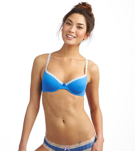 Rome Blue Hannah Cotton Lightly Lined Bra