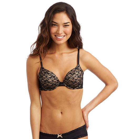 True Black Sofie Vintage Lace Lightly Lined Bra