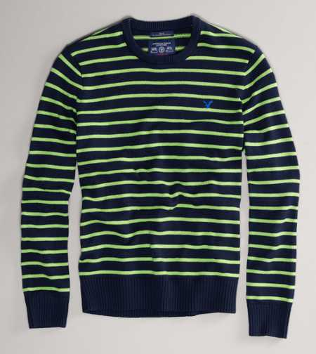 AE Striped Crew Sweater
