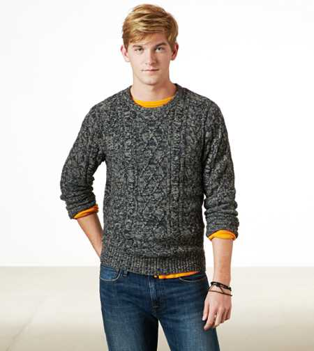AE Marled Cable Sweater
