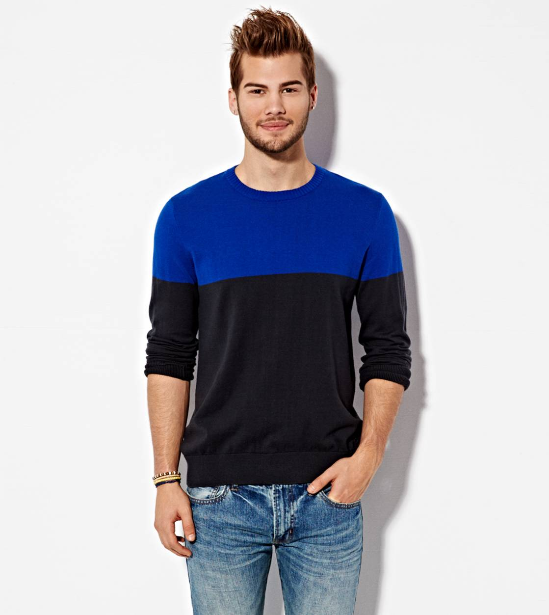 Dream Blue AE Colorblock Sweater