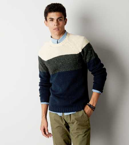 AEO Colorblock Crew Sweater - Buy One Get One 50% Off