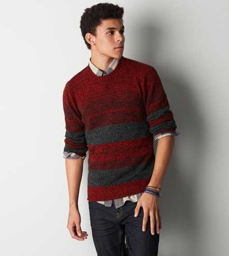 AEO Striped Crew Sweater - Buy One Get One 50% Off