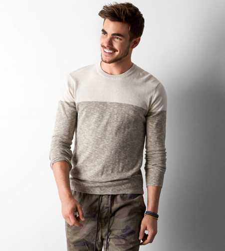 AEO Colorblocked Crew Sweater - Buy One Get One 50% Off