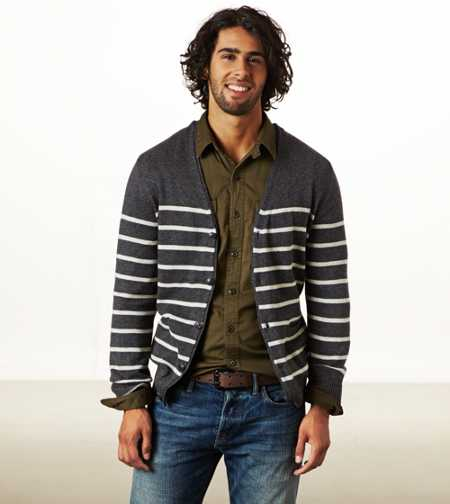 AE Striped Cardigan