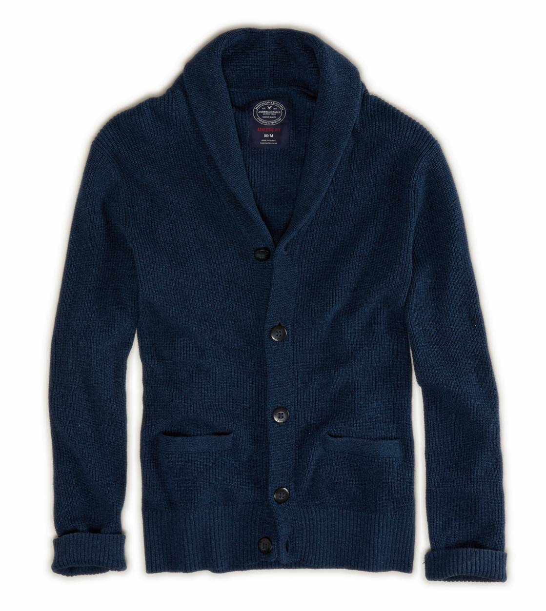 Blue Moon Marl AE Shawl Cardigan
