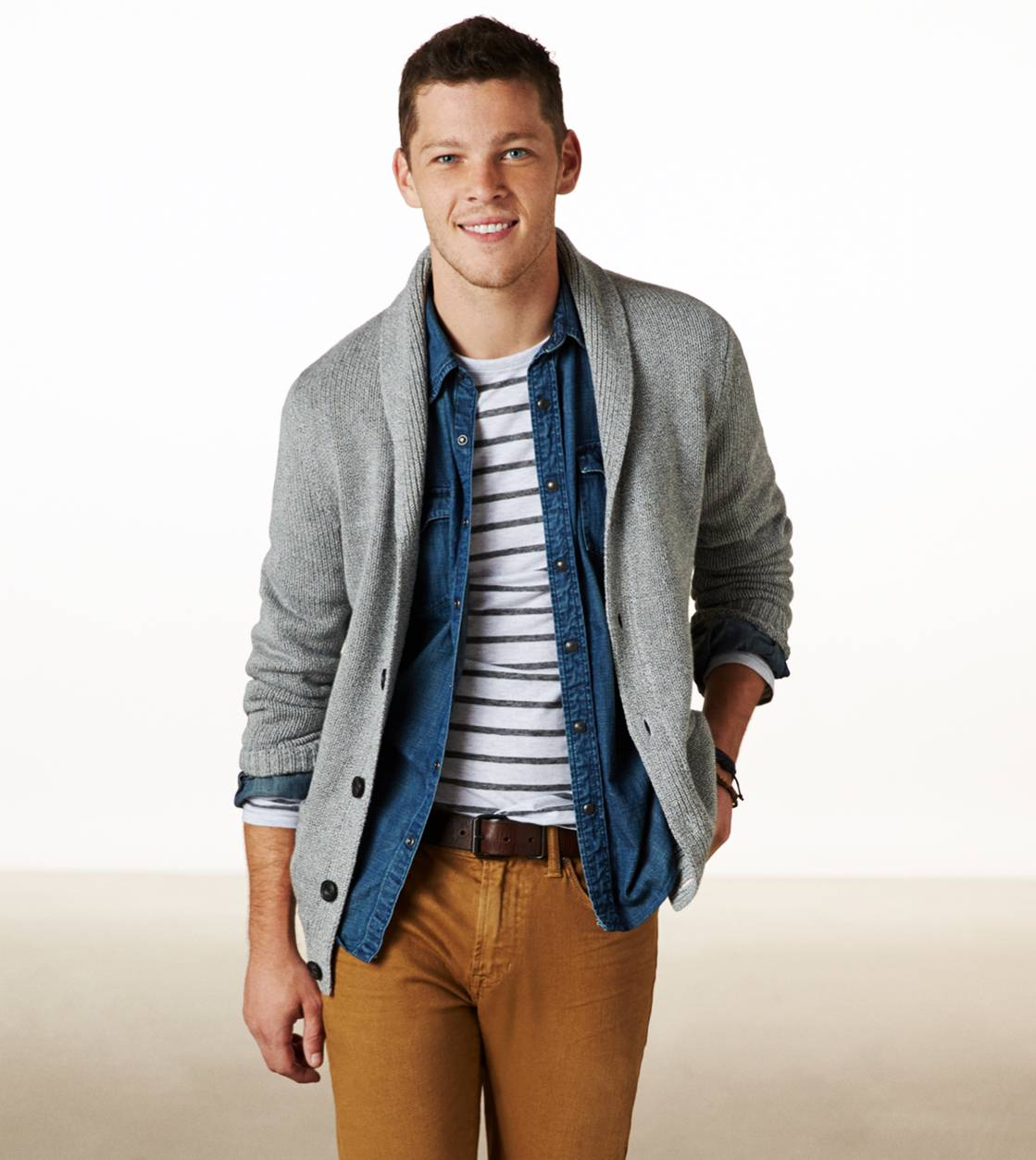 Grey AE Shawl Cardigan