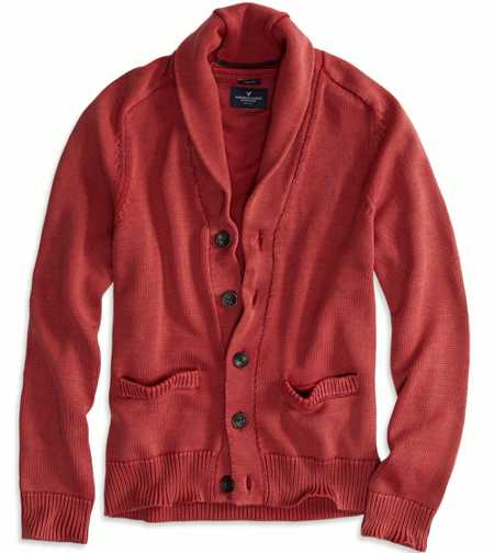 AE Washed Shawl Cardigan