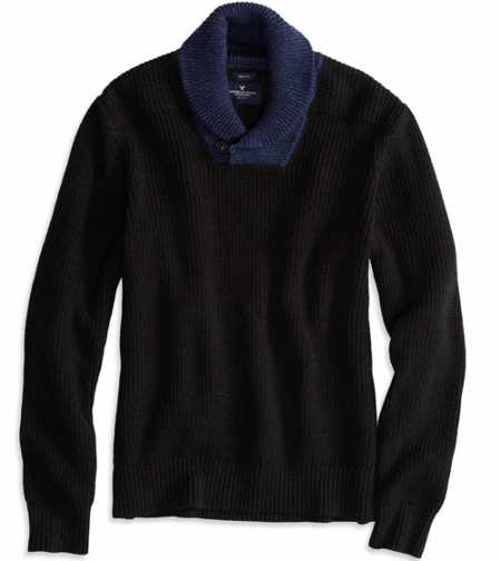 AE Shawl Collar Sweater