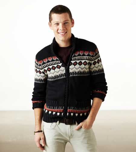 AE Fair Isle Zip Cardigan