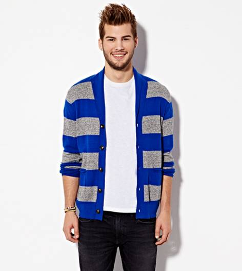 Dream Blue AE Shawl Collar Cardigan