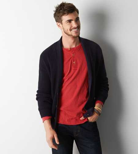 AEO Ribbed Shawl Cardigan - Buy One Get One 50% Off