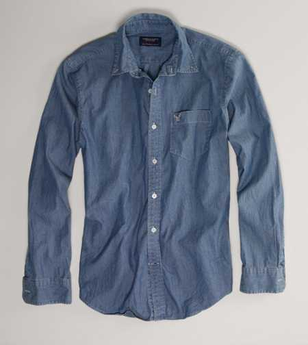 AE Chambray Button-Down - Athletic Fit