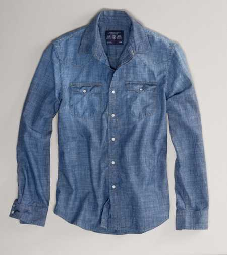 AE Chambray Western Shirt - Vintage Fit