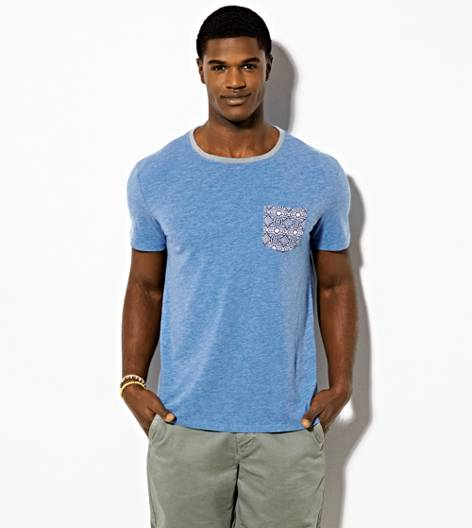 Chambray Blue AEO Vintage Pocket T-Shirt