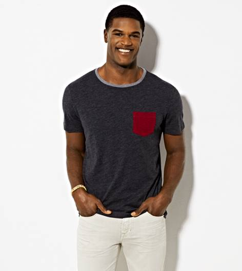 Ebony Grey AEO Vintage Pocket T-Shirt