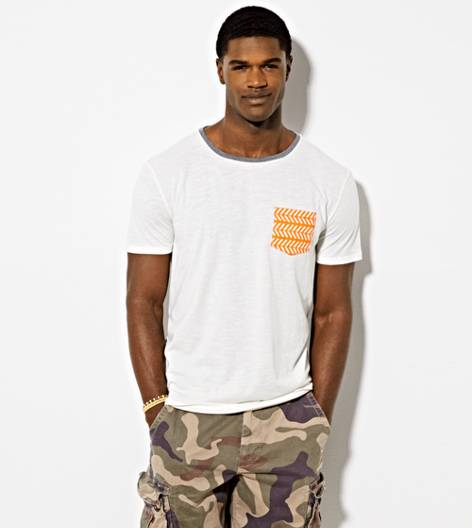 Orange AEO Vintage Pocket T-Shirt
