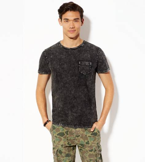 True Black AEO Vintage Pocket T-Shirt
