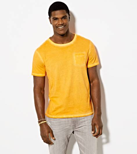 Orange Wash AEO Vintage Pocket T-Shirt