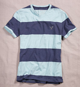 American Eagle Tall T shirt for Men : Stripes